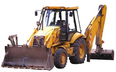traktor-grävmaskin